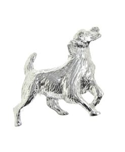Dog brooch cast in Cornish tin