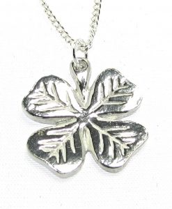 4 leaf clover pendant in Cornish tin