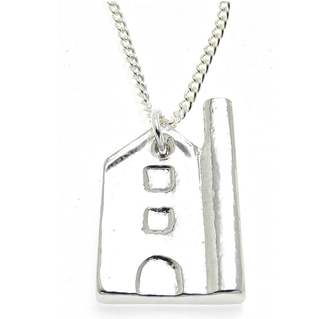 Tin Mine pendant in Cornish tin
