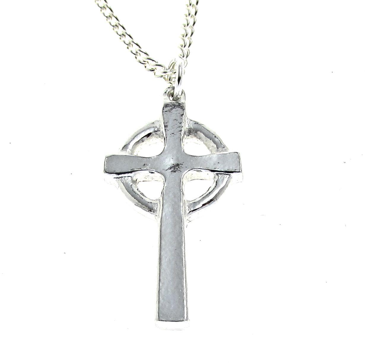 Smaller Celtic cross pendant in Cornish tin