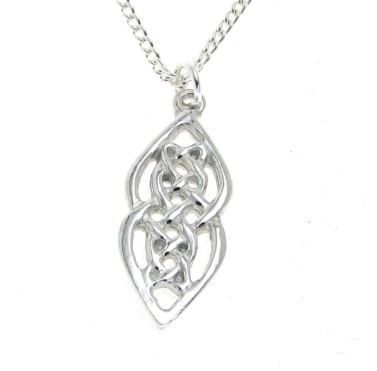 Celtic knot pendant cast in Cornish tin