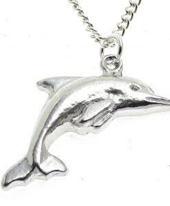 Dolphin pendant cast in Cornish tin