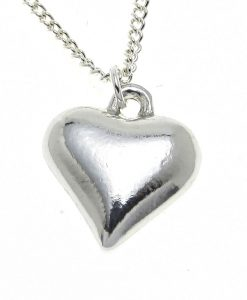 Heart pendant cast in Cornish tin