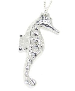 Large seahorse pendant in Cornish tin