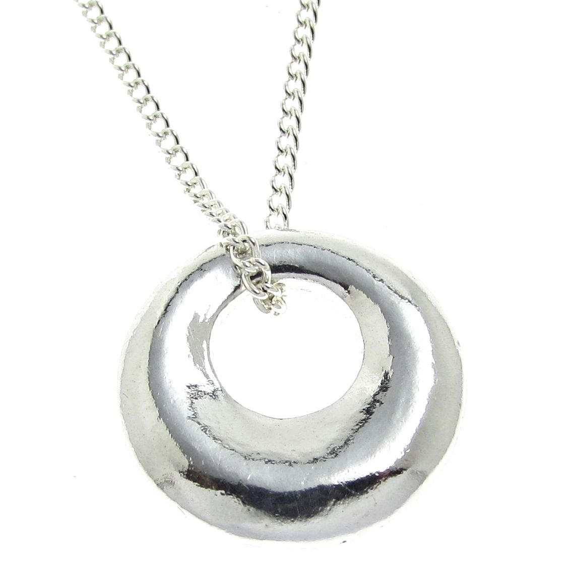 Cornish tin donut pendant