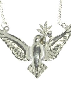 Cornish tin dove pendant