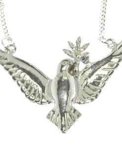 Cornish tin dove pendant