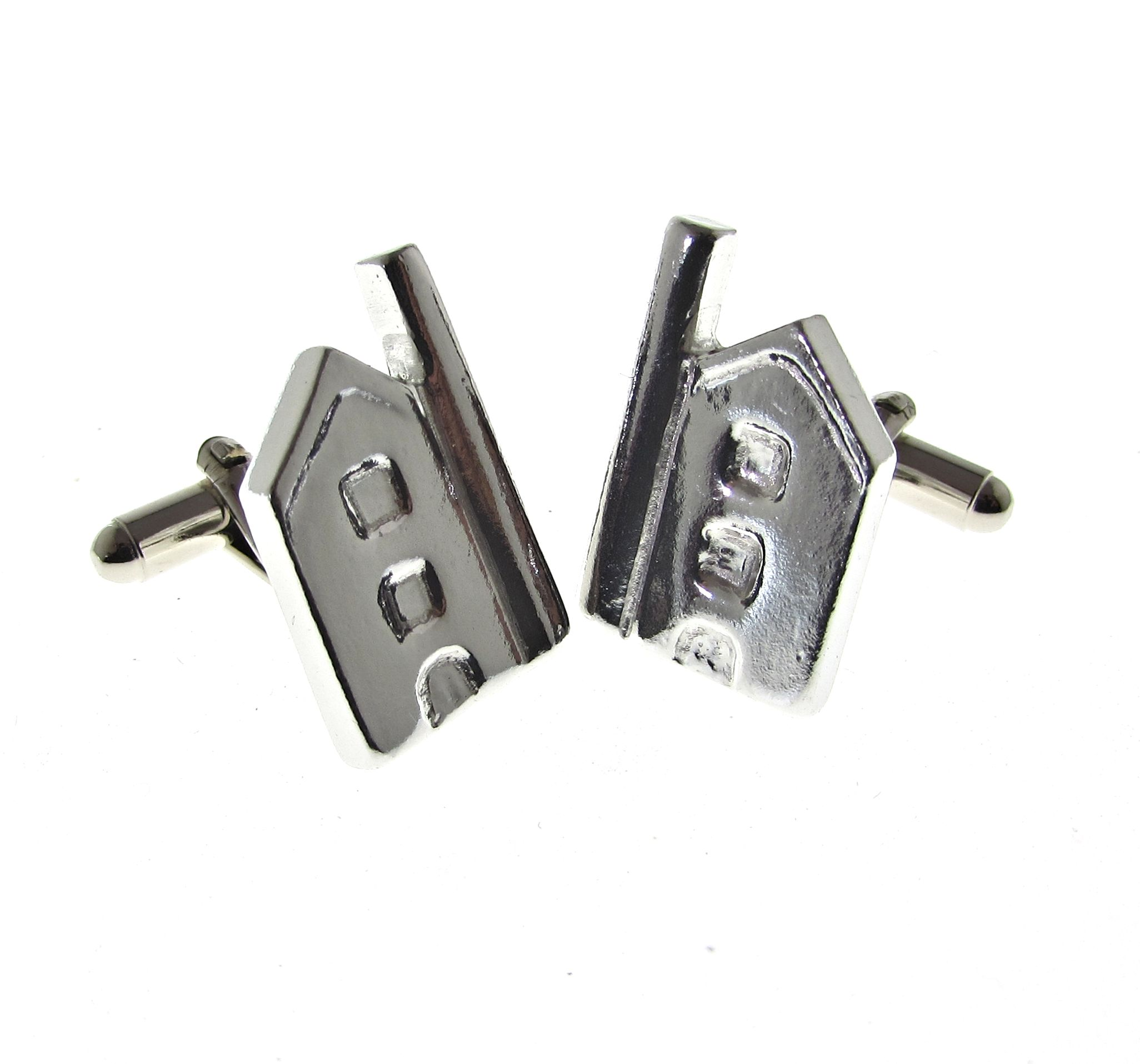 Cornish tin mine shaped cuff links
