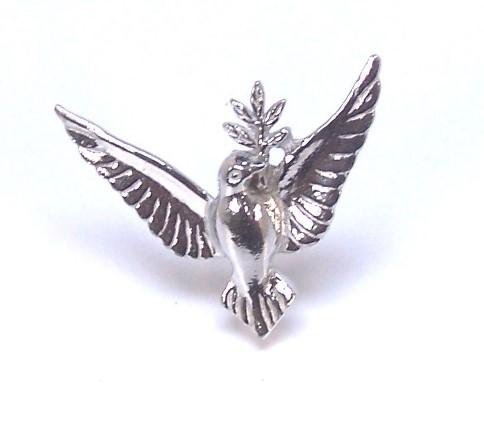 Dove brooch cast in cornish tin