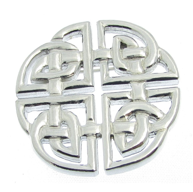 Celtic knotwork brooch in Cornish tin