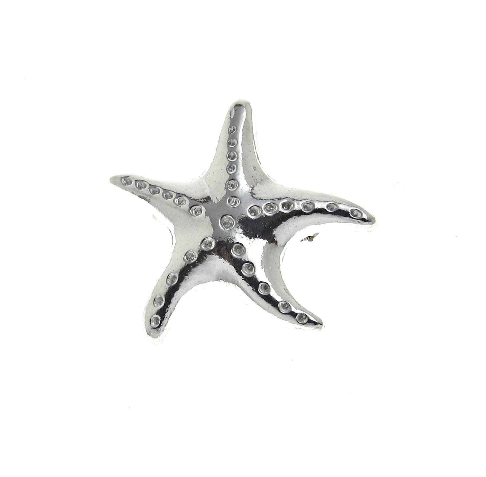 Starfish brooch in Cornish tin