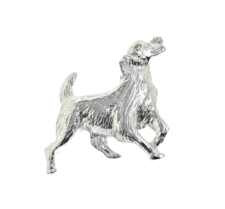 Dog brooch cast in Cornish tin