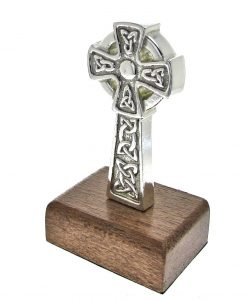 Celtic cross paperweight cast in Cornish tin