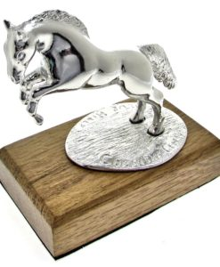 Leaping horse model cast in Cornish tin