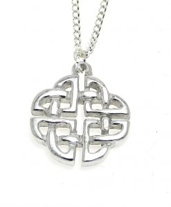 Celtic knotwork pendant cast in Cornish tin