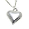 Heart pendant cast in Cornish tin