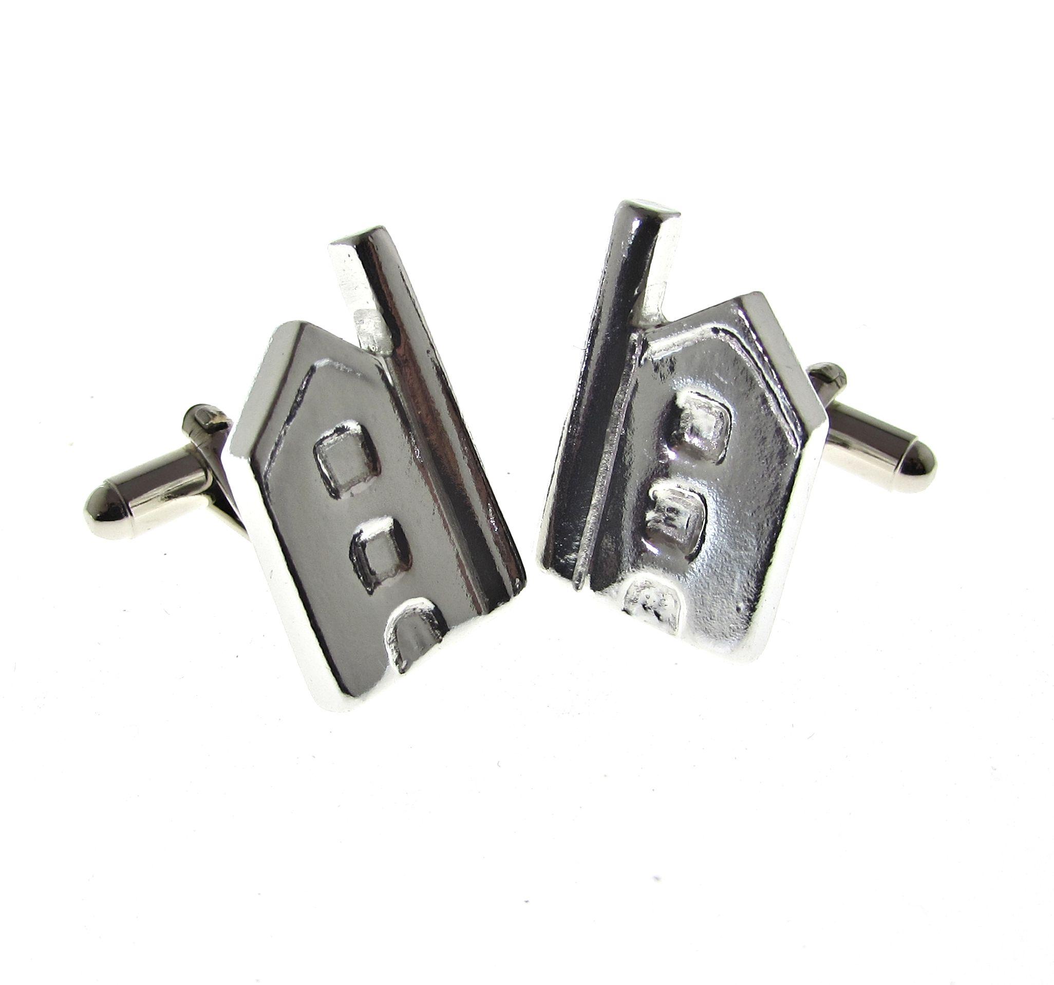 Cornish tin mine shaped cuff links
