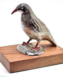 Cornish Chough paperweight cast in cornish tin