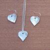 Heart earrings and pendant